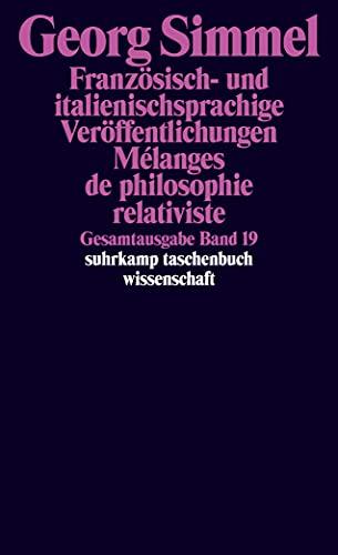 Gesamtausgabe in 24 Bänden: Band 19: Französisch-: Georg Simmel