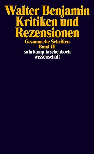 9783518285336: Gesammelte Schriften; BD.3