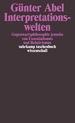 9783518288108: Interpretationswelten.