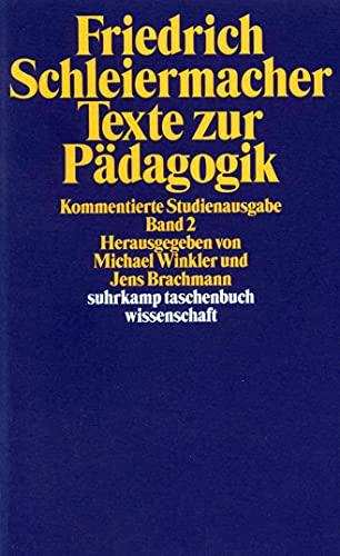 9783518290521: Texte zur Pädagogik 2: Kommentierte Studienausgabe