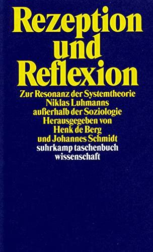 9783518291016: Rezeption und Reflexion: Zur Resonanz der Systemtheorie Niklas Luhmanns außerhalb der Soziologie (Suhrkamp Taschenbuch Wissenschaft)