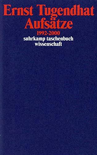 9783518291351: Aufsätze 1992-2000