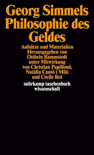 9783518291849: Georg Simmels ' Philosophie des Geldes': Aufsätze und Materialien