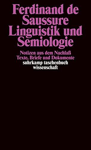 Linguistik und Semiologie. (3518292501) by Ferdinand de Saussure