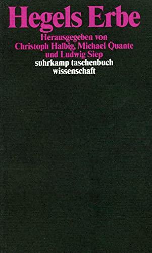 9783518292990: Hegels Erbe