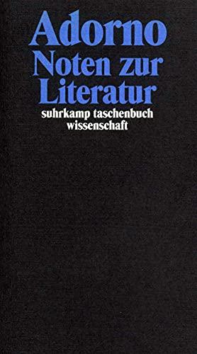 Noten zur Literatur.: Adorno, Theodor W.