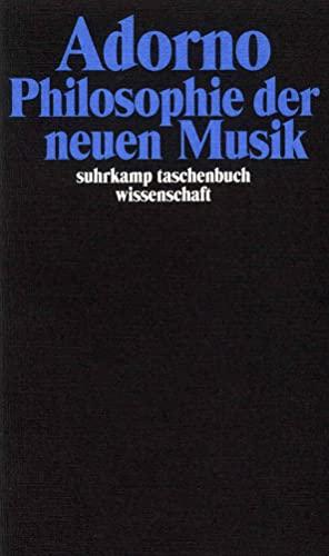 9783518293126: Philosophie der neuen Musik.