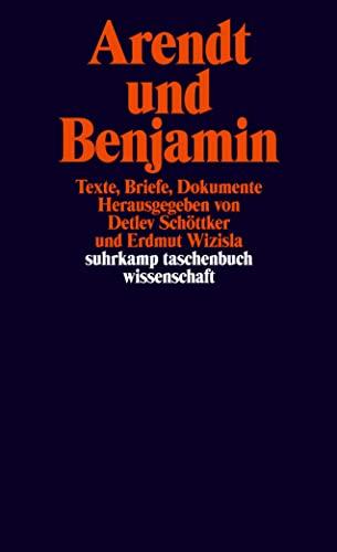 9783518293959: Arendt und Benjamin