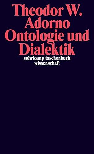 9783518294772: Ontologie und Dialektik: 1960/61