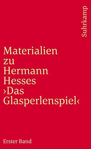 Materialien zu Hermann Hesse: Das Glasperlenspiel I.: Texte v. Hermann Hesse.: Hesse, Hermann