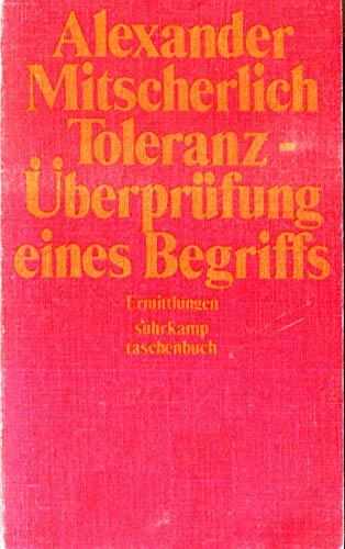 9783518367131: Toleranz - Überprüfung eines Begriffs