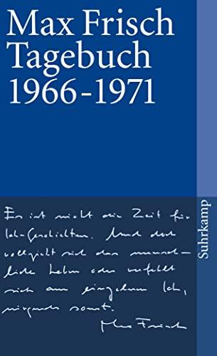 Tagebuch 1966 - 1971. Mit einer Zeittafel. - (=Suhrkamp Taschenbuch, st 256). - Frisch, Max