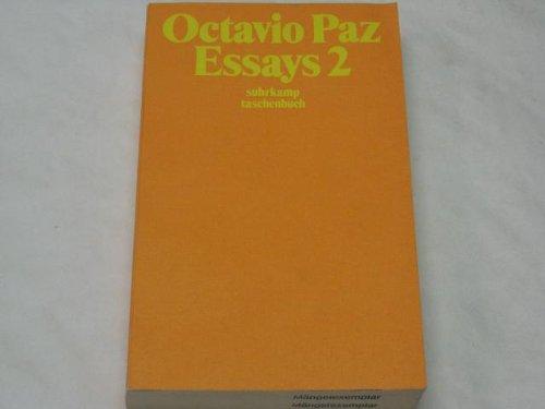 Essays 1/2: Paz, Octavio: