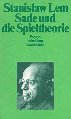 Sade und die Spieltheorie. Essays, Bd. 1. - Lem, Stanislaw