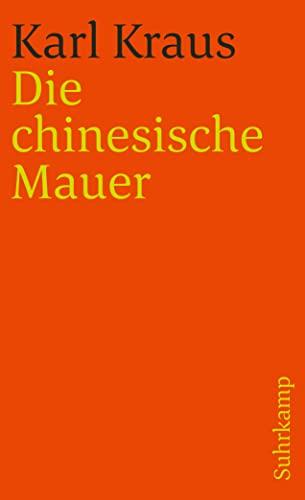9783518378120: Die chinesische Mauer, Bd 2