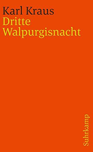 9783518378229: Dritte Walpurgisnacht. ( Schriften, Bd. 12).