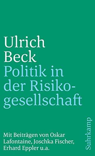 9783518383315: Politik in der Risikogesellschaft. Essays und Analysen.