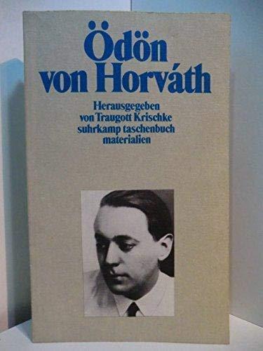 9783518385050: Ödön von Horváth (Suhrkamp Taschenbuch)