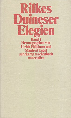 9783518385098: Rilkes Duineser Elegien I. Selbstzeugnisse.