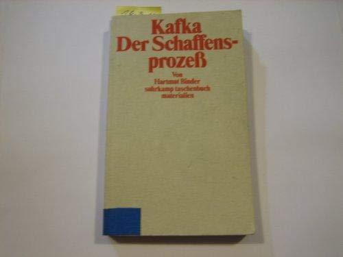 9783518385265: Kafka: Der Schaffensprozess (Suhrkamp Taschenbuch Materialien) (German Edition)