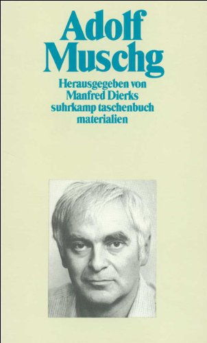 9783518385869: Adolf Muschg (Suhrkamp taschenbuch)