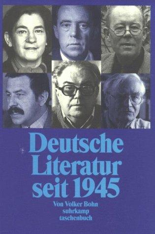 9783518389850: Deutsche Literatur seit 1945. Texte und Bilder.
