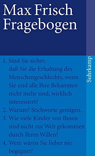 Fragebogen (9783518394526) by Max Frisch