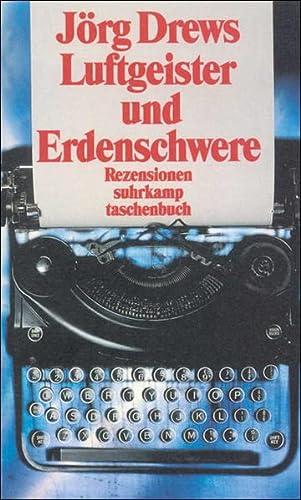 9783518395370: Luftgeister und Erdschwere: Rezensionen zur deutschen Literatur 1967-1999