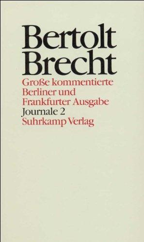 Journale II. 1941 - 1955: Bertolt Brecht