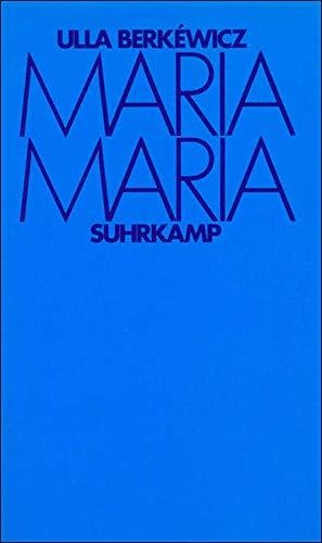 9783518401248: Maria Maria: Drei Erzählungen
