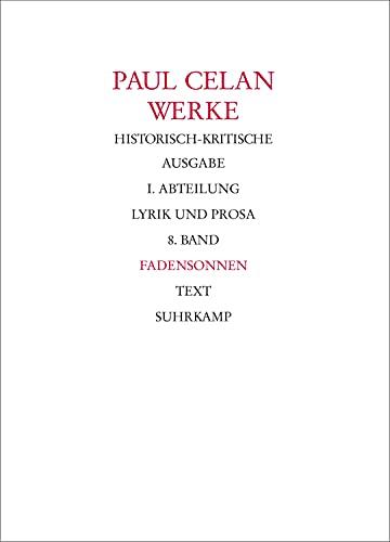 9783518404133: Fadensonnen: Teilbd. 1: Text / Teilbd. 2: Apparat: I. Abt. Bd. 8