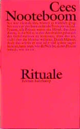 Rituale Roman Aus Dem Niederländischen Von Hans Herrfurth