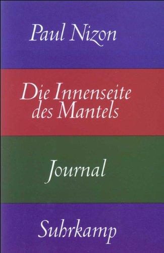 9783518407165: Die Innenseite des Mantels: Journal