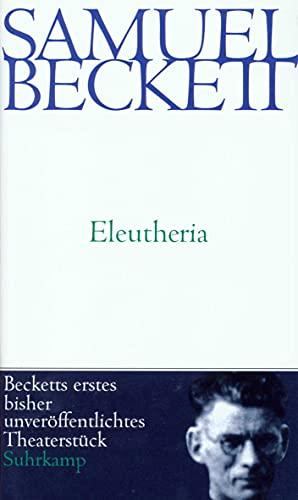 9783518407769: Eleutheria