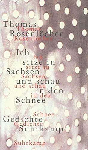 Ich sitze in Sachsen und schau in den Schnee : 77 Gedichte.