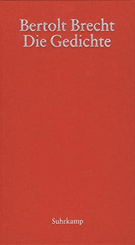 9783518411513 Die Gedichte Abebooks Bertolt Brecht
