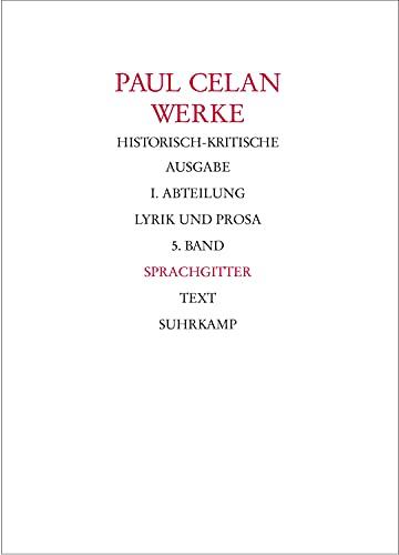 Sprachgitter: Paul Celan