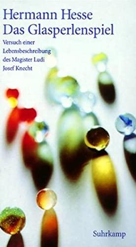 9783518413357: Das Glasperlenspiel. Sonderausgabe: Versuch einer Lebensbeschreibung des Magister Ludi Josef Knecht