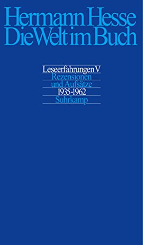 Die Welt im Buch V.: Hermann Hesse