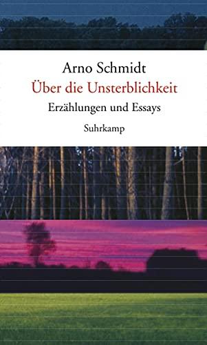 9783518421239: �ber die Unsterblichkeit: Erz�hlungen und Essays