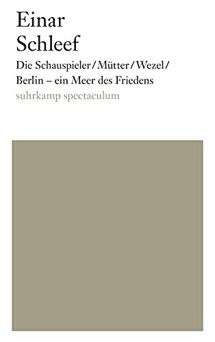 Die Schauspieler/Mütter/Wezel/ Berlin - ein Meer des