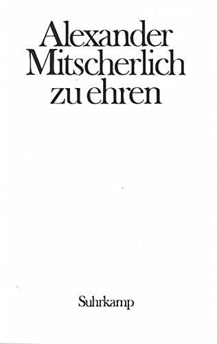 9783518572986: Provokation und Toleranz. Festschrift für Alexander Mitscherlich zum siebzigsten Geburtstag