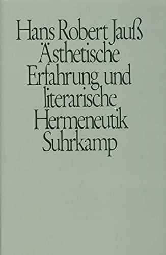 9783518576175: Ästhetische Erfahrung und literarische Hermeneutik