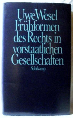 9783518577066: Frühformen des Rechts in vorstaatlichen Gesellschaften.