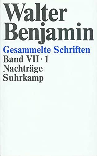 Nachträge: Walter Benjamin