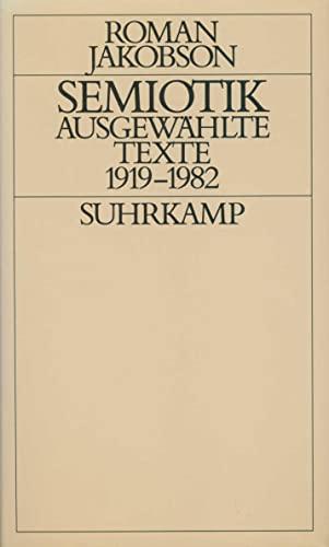 Semiotik: Ausgewählte Texte 1919-1982 (Hardback): Roman Jakobson