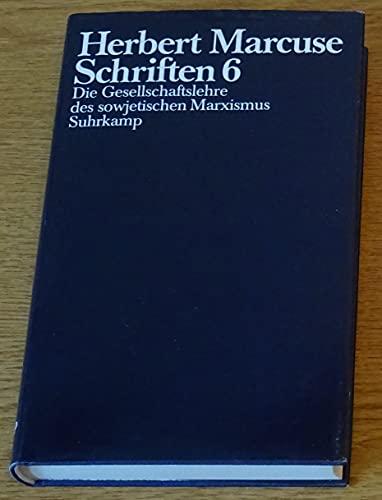 9783518579169: Herbert Marcuse - Schriften 6;