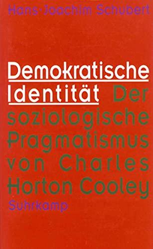 9783518582053: Demokratische Identität: Der soziologische Pragmatismus von Charles Horton Cooley
