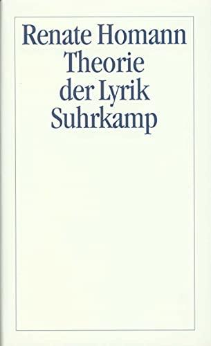 Theorie der Lyrik: Renate Homann
