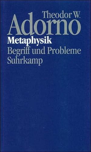 9783518582657: Metaphysik: Begriff und Probleme (1965) (Nachgelassene Schriften. Abteilung IV, Vorlesungen) (German Edition)